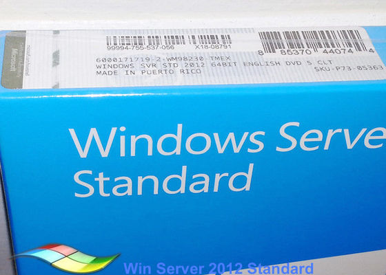DVD personalizzabile standard pieno dei sistemi di Windows Server 2012 FPP FQC 64bit di versione